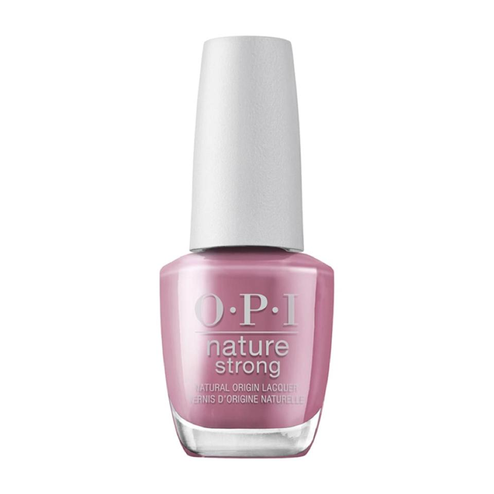 OPI has figured out how to make its beloved nail polish in a long-lasting formula with plant- and mineral-based ingredients. Nature Strong Natural Origin Lacquer comes in 30 shades (like the lovely mauve Knowledge Is Flower seen here), all of which are nine-free and topped off with a cap made with 20 percent post-consumer recycled plastic.