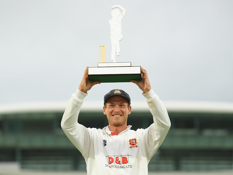 Essex's Tom Westley lifts the Bob Willis Trophy (Getty Images)