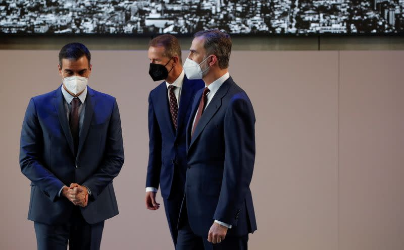 Spain's King Felipe and PM Sanchez visit the SEAT factory in Martorell