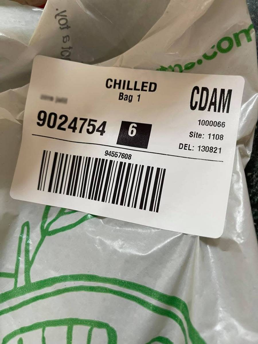 A Woolworths online delivery. Source: Facebook