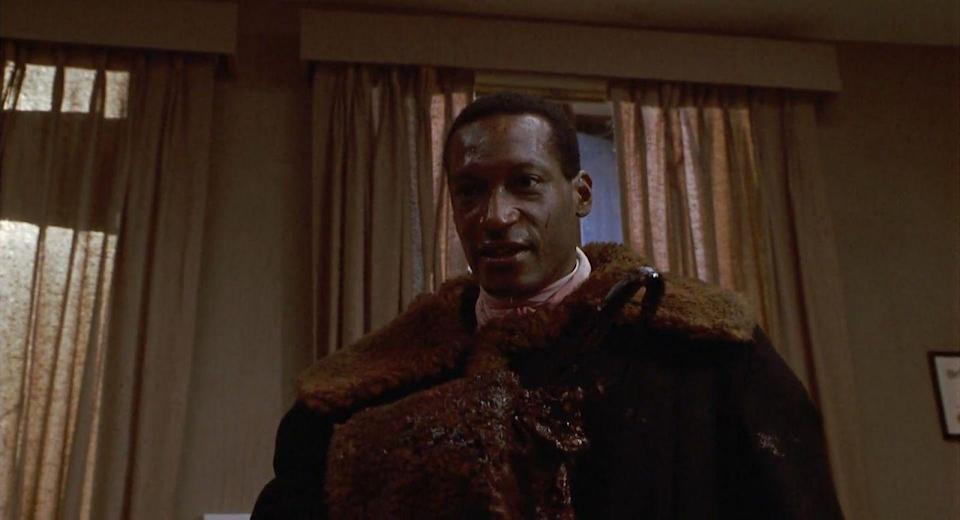 <p><strong>Director: </strong>Bernard Rose<br></p><p>Sadly one of the few horror movies interested in exploring Black culture, <em>Candyman </em>follows a graduate student (Virginia Madsen) researching the legend known as the Candyman (Tony Todd), who's supposedly the reincarnation of a black man killed by a lynch mob now taking out revenge on residents of Chicago's projects when they say his name three times in the mirror. Madsen doesn't believe it, but you, smart horror viewer, know better. </p>