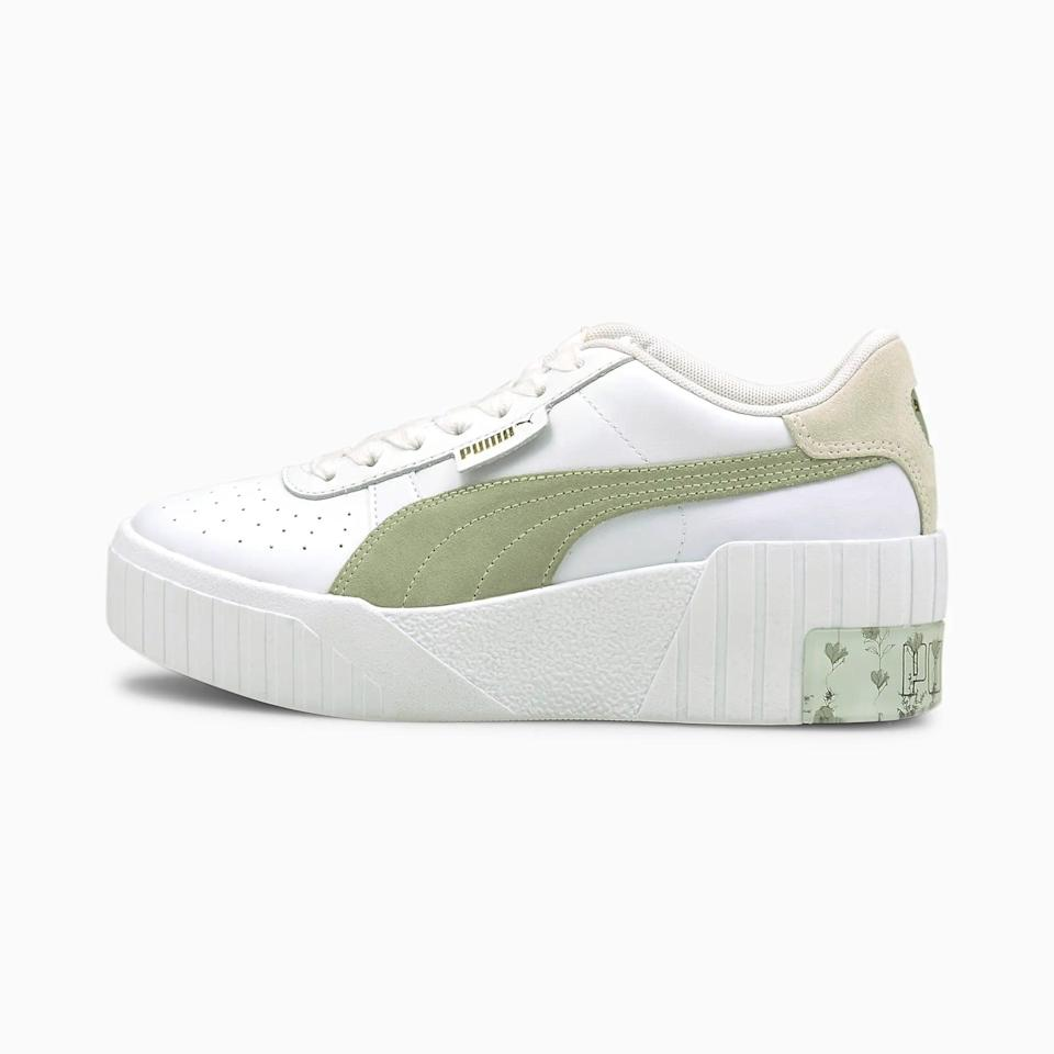 <p>You can't go wrong with these <span>Puma Cali Wedge In Bloom Women's Sneakers</span> ($90).</p>
