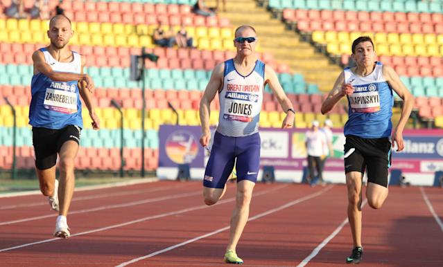 Jones will compete in the 100m final on Friday evening. Pic: Ben Booth Photography