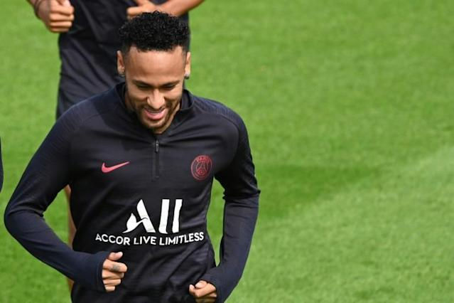Neymar, seen training on August 10, has been linked with a return to Barcelona after PSG hinted at potential movement last weekend and Barcelona media now saying talks are in the offing (AFP Photo/DOMINIQUE FAGET)