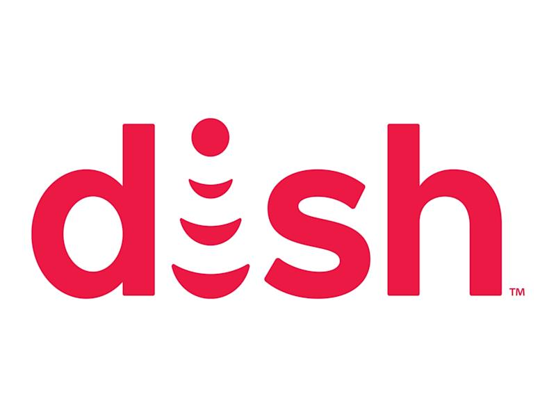 DISH Network logo, graphic element on white