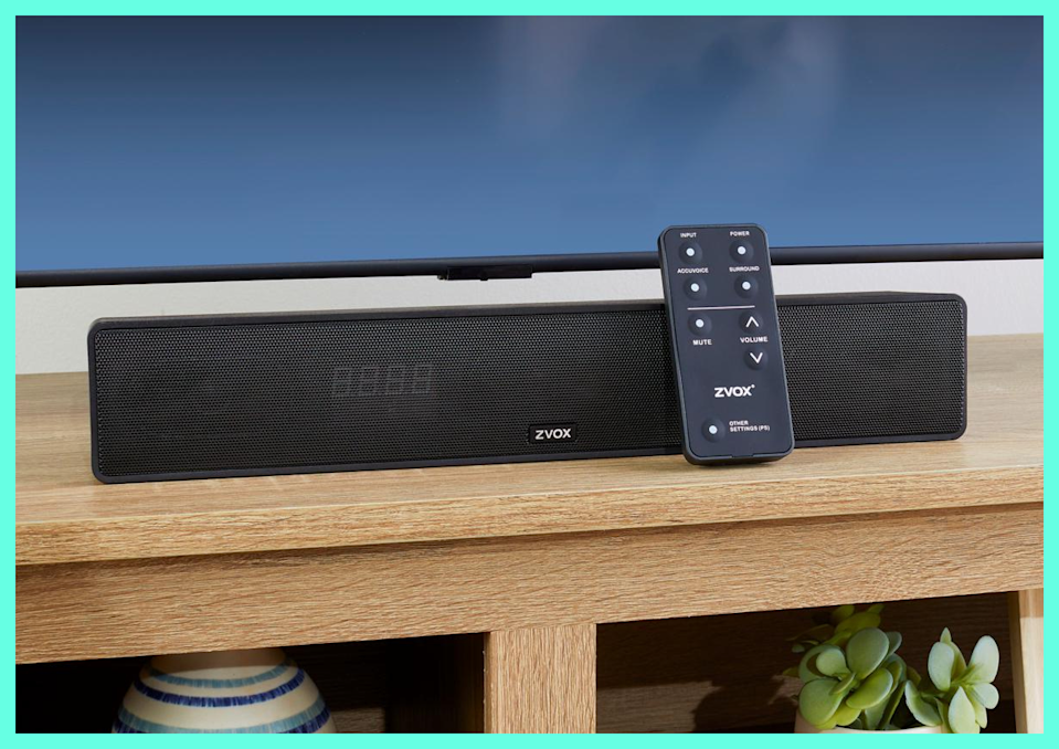 Let's all go to the movies—at home. This soundbar gives everyone the best seat in the house. (Photo: ZVOX)