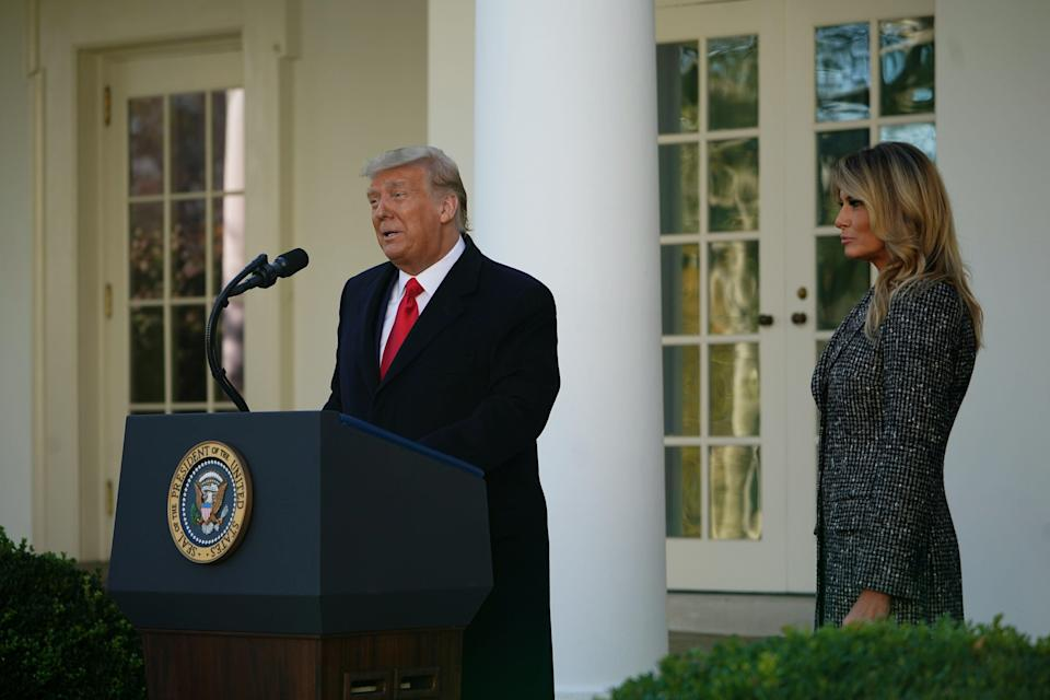 <p>Donald Trump, seen on Tuesday, will not travel to Pennsylvania for Wednesday's hearing</p> (AFP via Getty Images)