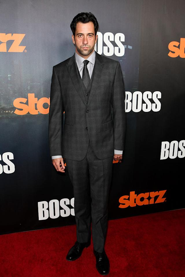 "<a href=""/troy-garity/contributor/38533"">Troy Garity</a> arrives at the premiere of Starz's ""<a href=""/boss/show/46953"">Boss</a>"" at ArcLight Cinemas on October 6, 2011 in Hollywood, California."