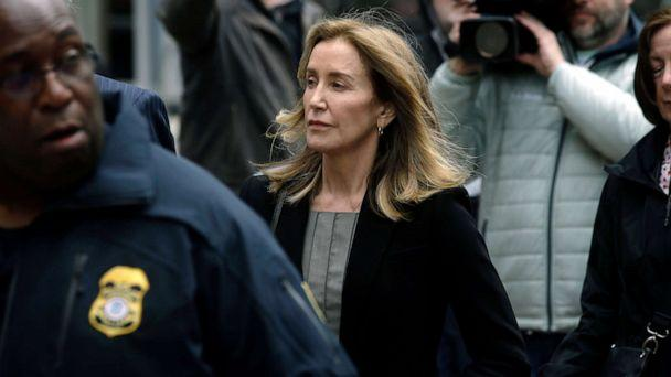 PHOTO:Felicity Huffman arrives at federal court, May 13, 2019, in Boston, where she is scheduled to plead guilty to charges in a nationwide college admissions bribery scandal. (Steven Senne/AP, FILE)