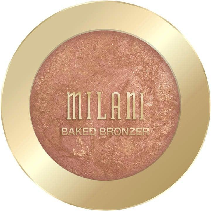 <p>The <span>Milani Baked Bronzer</span> ($9) is superpigmented, and it's a shimmery shade that will make you glow brighter than the sun.</p>