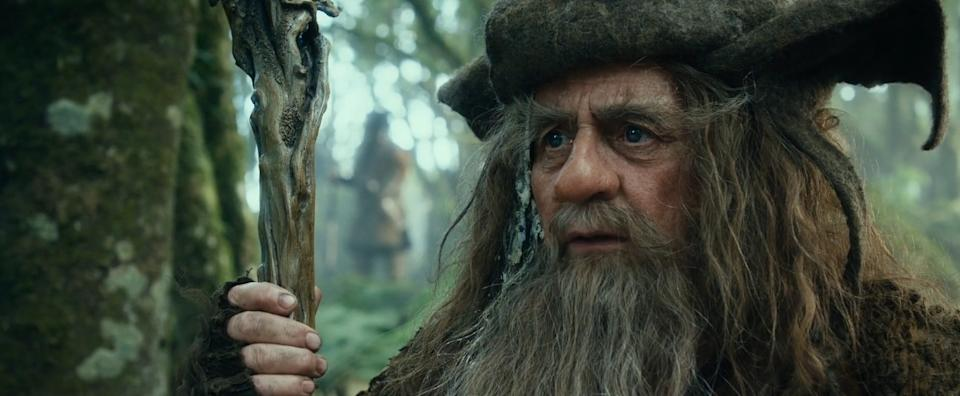 Sylvester McCoy as Radagast The Brown in The Hobbit (New Line/Warner Bros)