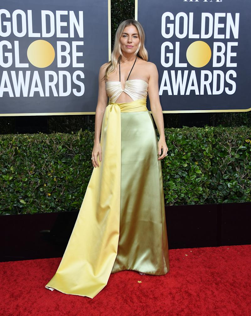 Actress Sienna Miller at the Golden Globes 2020