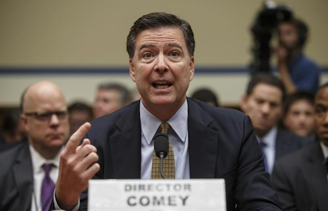 FBI Director James Comey testifies before the House Oversight Committee about Hillary Clinton's email investigation in July 2016. (Photo: J. Scott Applewhite/AP)