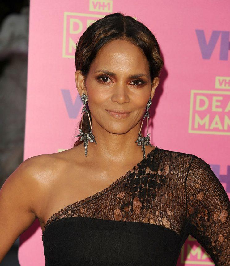 Halle Berry, on the red carpet on May 6, has said goodbye to her cherished cat, Playdough. (Photo: Getty Images)