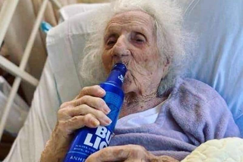 103-Year-Old Woman Celebrates Beating Coronavirus with a Chilled Beer