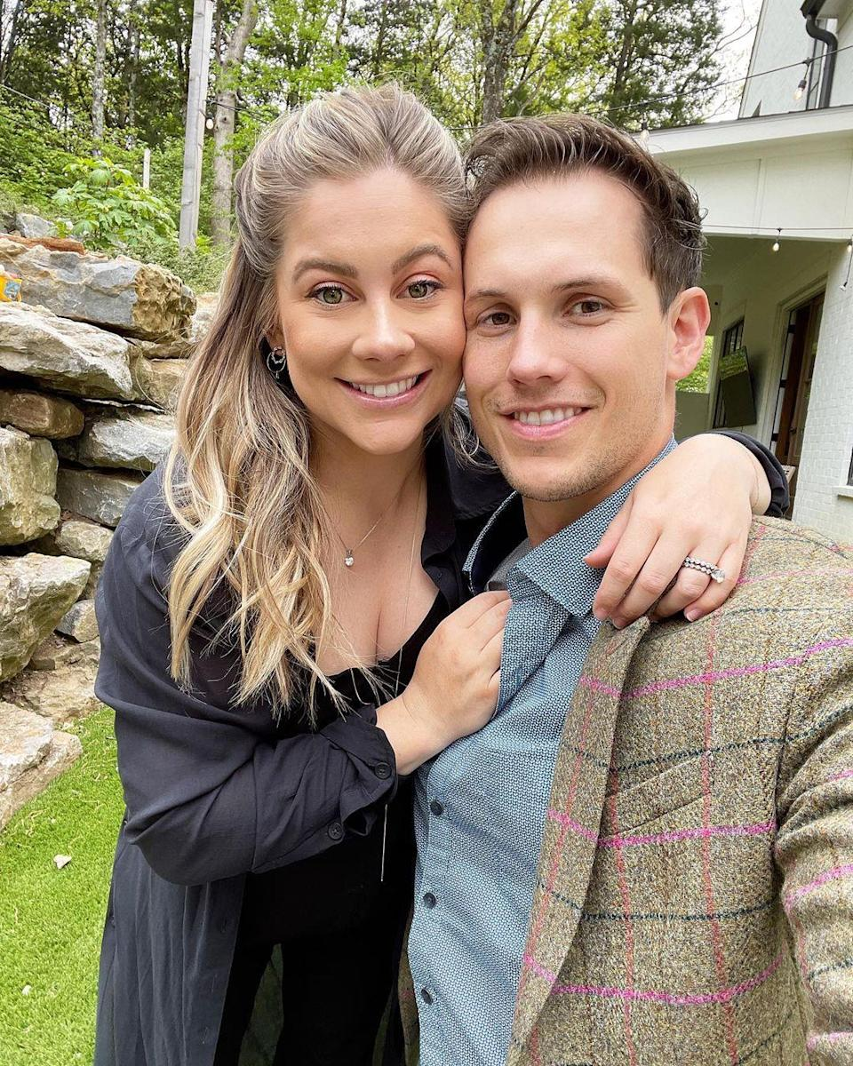 """<p>The Olympic gymnast and her football player husband celebrated their fifth wedding anniversary with some good food and drinks <a href=""""https://www.instagram.com/p/CN0aBBOBuy3/"""" rel=""""nofollow noopener"""" target=""""_blank"""" data-ylk=""""slk:in their backyard"""" class=""""link rapid-noclick-resp"""">in their backyard</a> in Nashville, TN. On the menu: Old-fashioned donuts and cocktails (and mocktails for Johnson East, who's pregnant!) on tap. """"The best anniversary date night ever!"""" she wrote. </p>"""