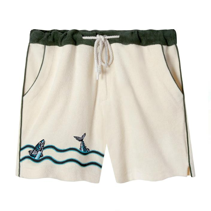 """For days when his OOO status says """"Gone fishin'."""" $98, Tombolo. <a href=""""https://www.tombolocompany.com/collections/frontpage/products/the-angler-cabana-shorts"""" rel=""""nofollow noopener"""" target=""""_blank"""" data-ylk=""""slk:Get it now!"""" class=""""link rapid-noclick-resp"""">Get it now!</a>"""