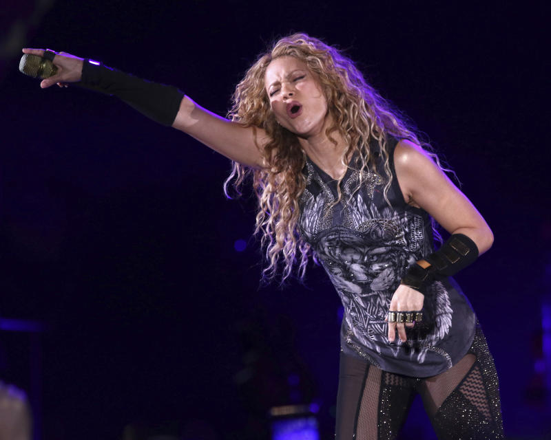 Shakira performs in concert at Madison Square Garden on Friday, Aug. 10, 2018, in New York. (Photo by Greg Allen/Invision/AP)