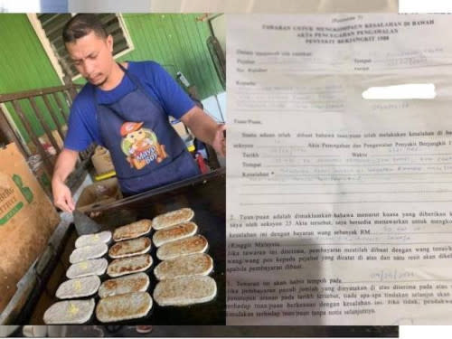 A burger seller in Kota Bharu was fined RM50,000 for operating past the permitted hours under the movement control order.