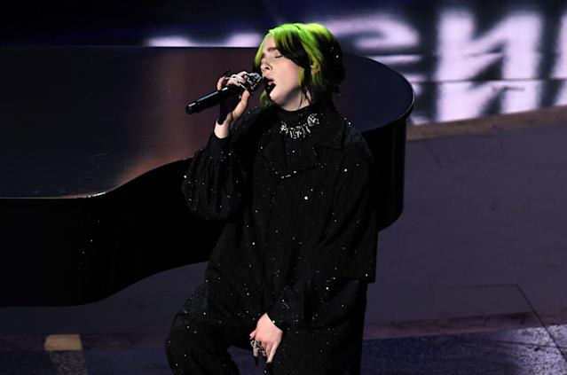Billie Eilish performs at the 92nd Annual Academy Awards. (Photo: Kevin Winter/Getty Images)