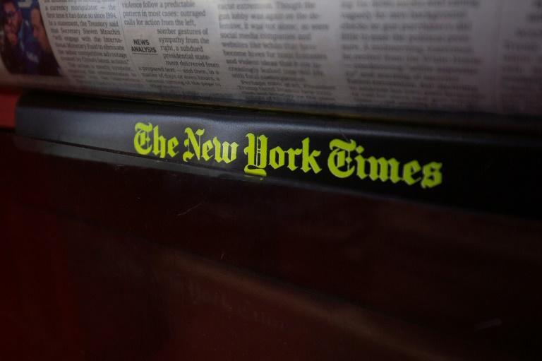 The New York Times said gains in digital subscriptions helped offset weakness in advertising related to pandemic-induced economic turmoil (AFP Photo/Alastair Pike)