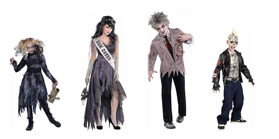"""<p>from $14.99 each </p><p><a class=""""link rapid-noclick-resp"""" href=""""https://www.amazon.com/s?k=Zombies+costume&ref=nb_sb_noss_2&tag=syn-yahoo-20&ascsubtag=%5Bartid%7C2089.g.1733%5Bsrc%7Cyahoo-us"""" rel=""""nofollow noopener"""" target=""""_blank"""" data-ylk=""""slk:SHOP AMAZON"""">SHOP AMAZON</a> <a class=""""link rapid-noclick-resp"""" href=""""https://go.redirectingat.com?id=74968X1596630&url=https%3A%2F%2Fwww.halloweencostumes.com%2Fzombie-costumes.html&sref=https%3A%2F%2Fwww.bestproducts.com%2Flifestyle%2Fnews%2Fg1733%2Fgroup-halloween-costumes%2F"""" rel=""""nofollow noopener"""" target=""""_blank"""" data-ylk=""""slk:SHOP HALLOWEENCOSTUMES.COM"""">SHOP HALLOWEENCOSTUMES.COM</a><br></p>"""