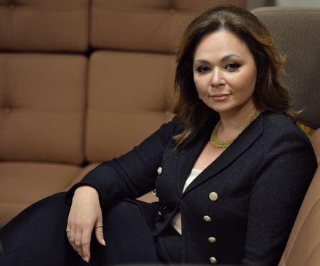 Russian lawyer Veselnitskaya listens during an interview in Moscow