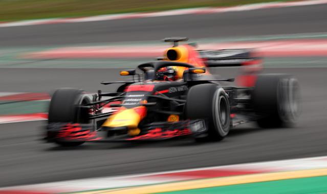 F1 Formula One - Formula One Test Session - Circuit de Barcelona-Catalunya, Montmelo, Spain - February 27, 2018. Max Verstappen of Red Bull Racing during testing. REUTERS/Albert Gea