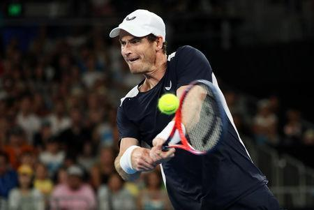 FILE PHOTO: Tennis - Australian Open - First Round - Melbourne Arena, Melbourne, Australia, January 14, 2019. Britain's Andy Murray in action during the match against Spain's Roberto Bautista Agut. REUTERS/Lucy Nicholson