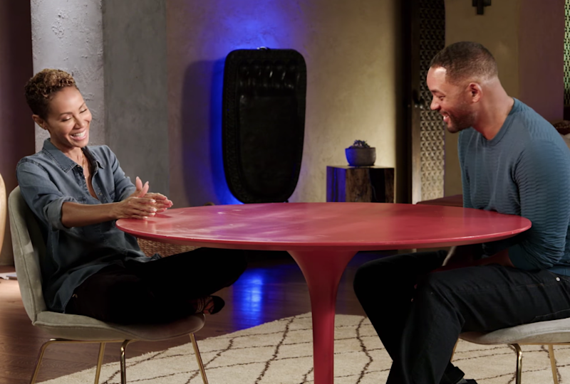 Jada Pinkett Smith and Will Smith on Red Table Talk: Facebook/screengrab