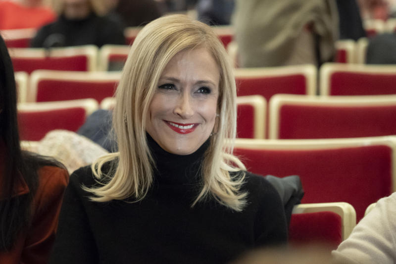 Cristina Cifuentes during in the opera La casa de Bernarda Alba at the Teatro de la Zarzuela in Madrid. Spain, 08 November 2018 (Photo by Oscar Gonzalez/NurPhoto via Getty Images)