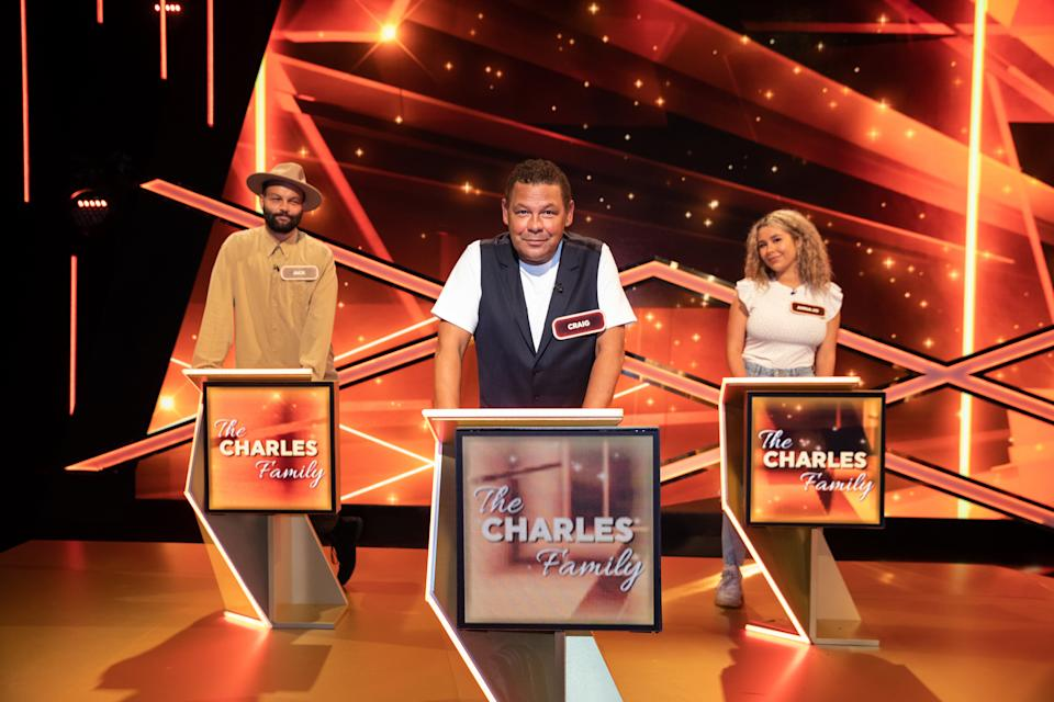 Britain's Brightest Celebrity Family - The Charles Family (Jack, Craig and Anna-Jo). (ITV)