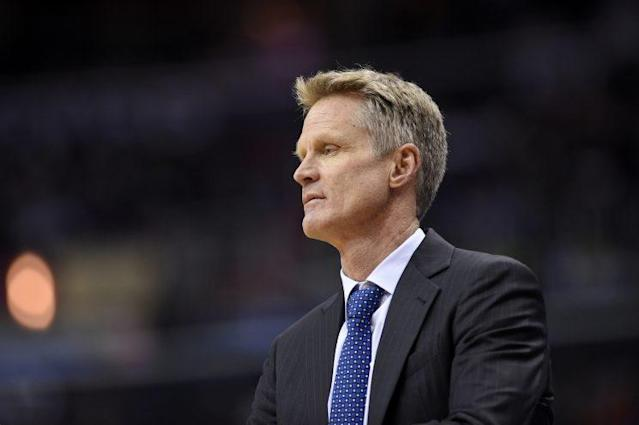 Warriors coach Steve Kerr underwent a procedure to address the ailment that's kept him from the bench. (AP)