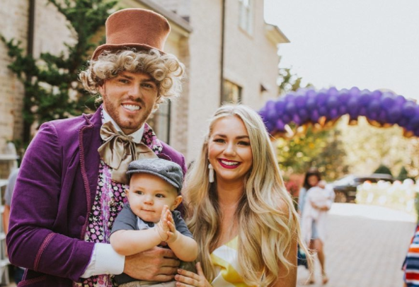 Atlanta Braves' Freddie Freeman dressed up as Willy Wonka for his son's birthday. (Instagram/@chelseafreeman5)
