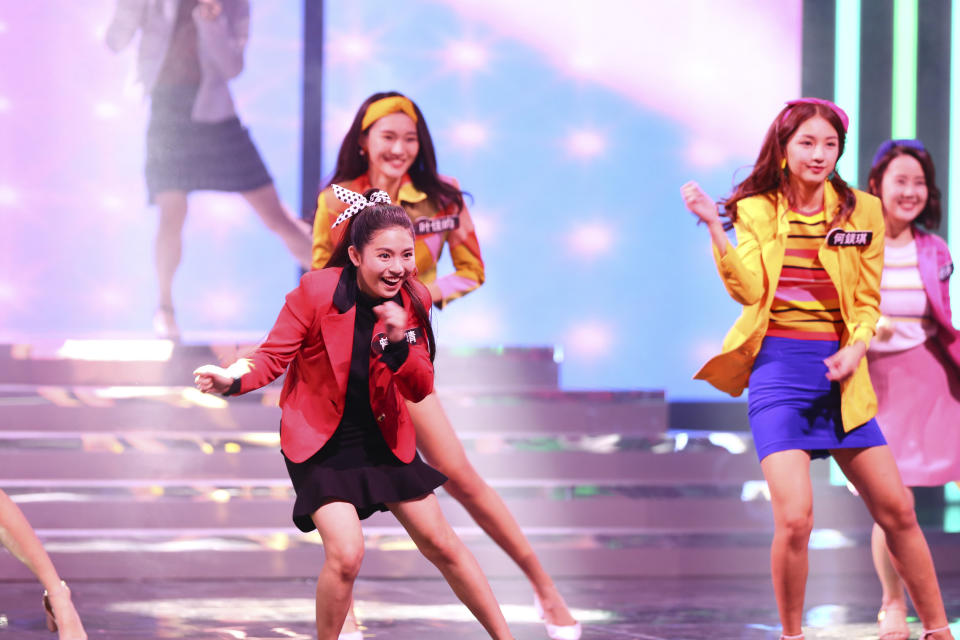 The female finalists performing a dance number at Star Search 2019. (PHOTO: Mediacorp)