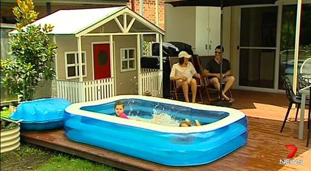 According to the law, pools such as this should be fenced. Photo: 7 News
