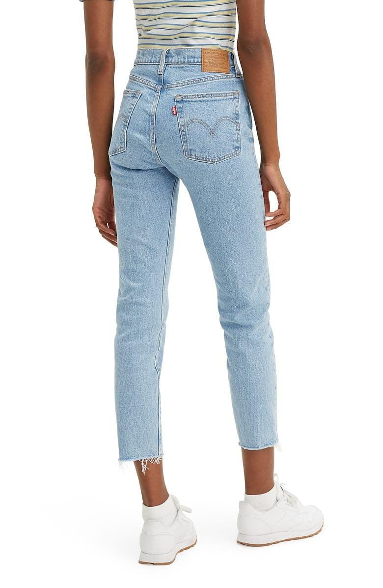 <p>These classic <span>Levi's Wedgie Icon Fit High Waist Raw Hem Ankle Jeans</span> ($50, originally $98) are always a good choice.</p>