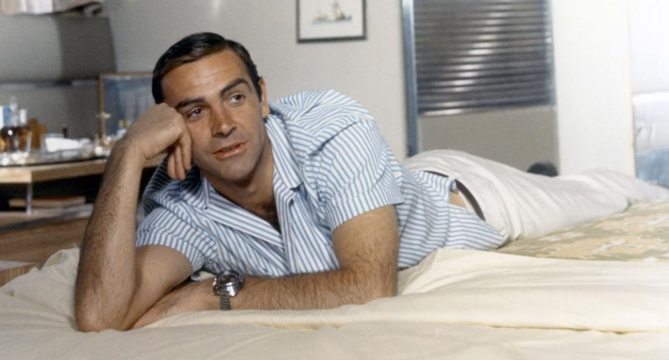 Scottish actor Sean Connery on the set of Thunderball. (Sunset Boulevard/Corbis via Getty Images)