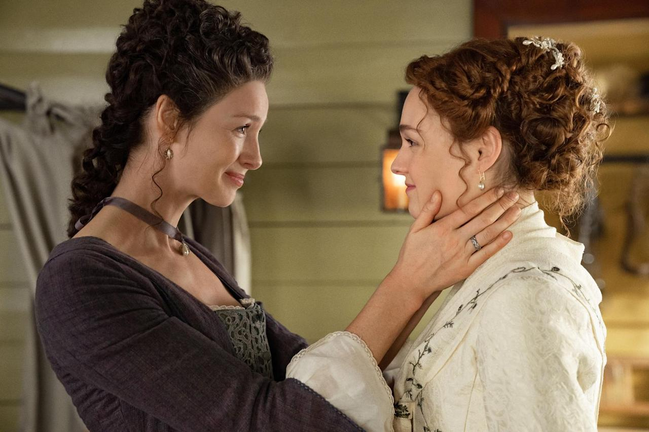 "<p>Balfe called the wedding episode ""beautiful,"" telling <em>Vogue, </em>""She loves Roger and thinks she and Brianna are a great match. Jamie [on the other hand] is still on the Roger-fence. But it's a really special moment [for Claire] to see Brianna happy—especially after what happened to her last season—to see her and Roger reconcile and be ready to start this new life together.""<em></em></p>"