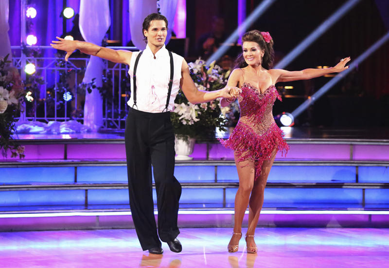 "Lisa Vanderpump and Gleb Savchenko perform on ""Dancing With the Stars."""