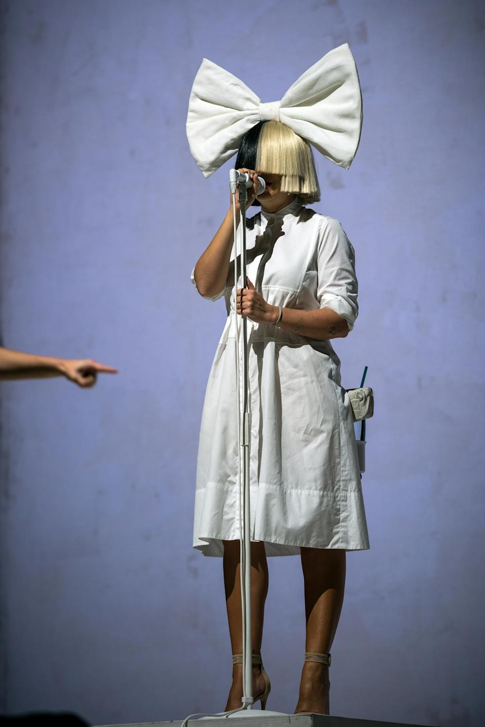 Skanderborg, Denmark. 05th, August 2016. Sia, the Australian pop singer and songwriter, performs a live concert at the Danish music festival SmukFest 2016.  (Photo by: Gonzales Photo/Rod Clemen/PYMCA/Avalon/Universal Images Group via Getty Images)