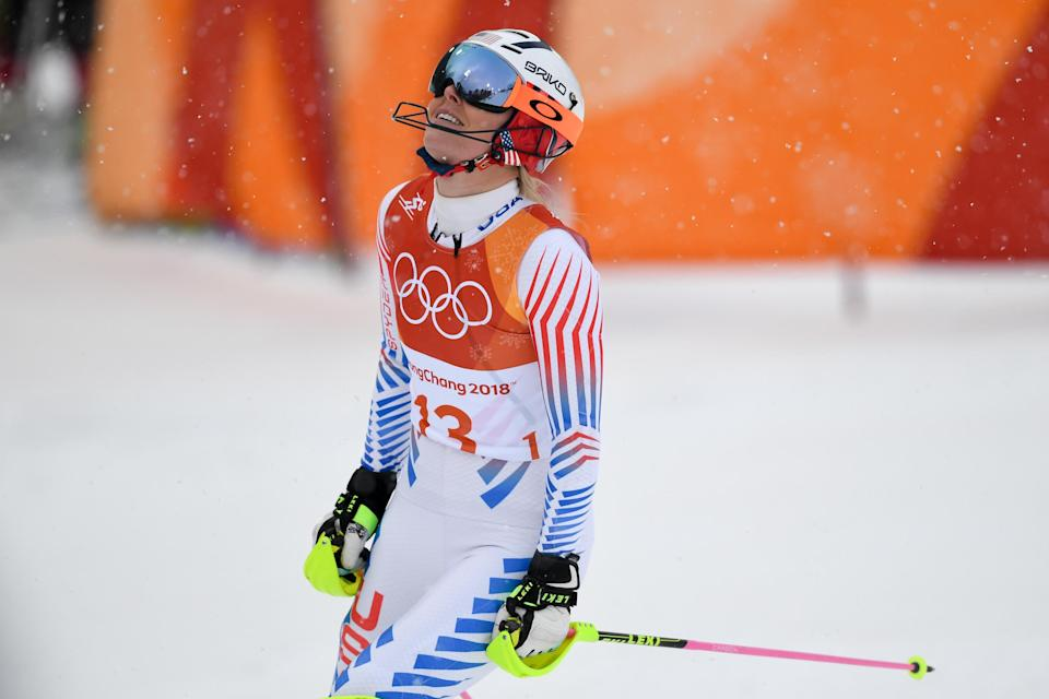 Lindsey Vonn's final Olympic race ends in heartbreak. (AP)