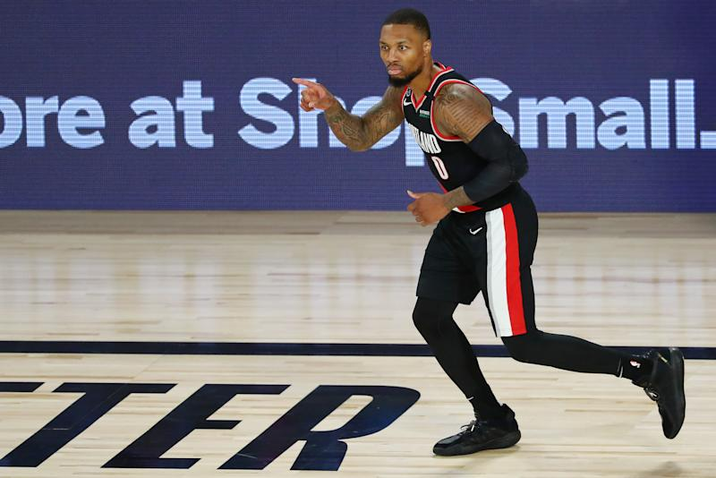 Damian Lillard plays in the NBA bubble.