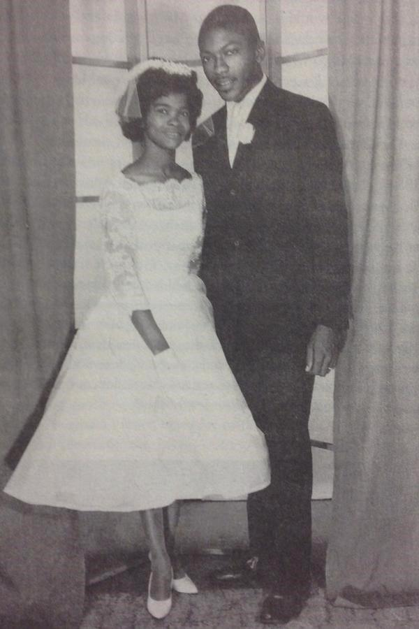 James and Emily Clyburn pose for a picture on their wedding day June 24, 1961.