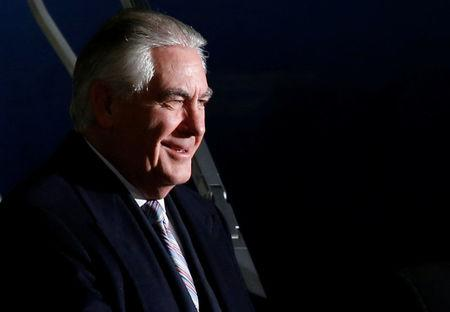 U.S. Secretary of State Tillerson arrives at Haneda International Airport in Tokyo
