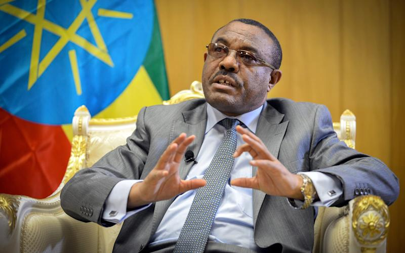 Hailemariam Desalegn, the Ethiopian prime minister - Copyright 2018 The Associated Press. All rights reserved.