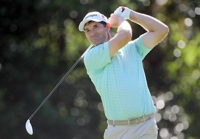 PALM HARBOR, FL - MARCH 15: Padraig Harrington of Ireland plays a shot on the ninth hole during the first round of the Transitions Championship at Innisbrook Resort and Golf Club on March 15, 2012 in Palm Harbor, Florida. (Photo by Sam Greenwood/Getty Images)