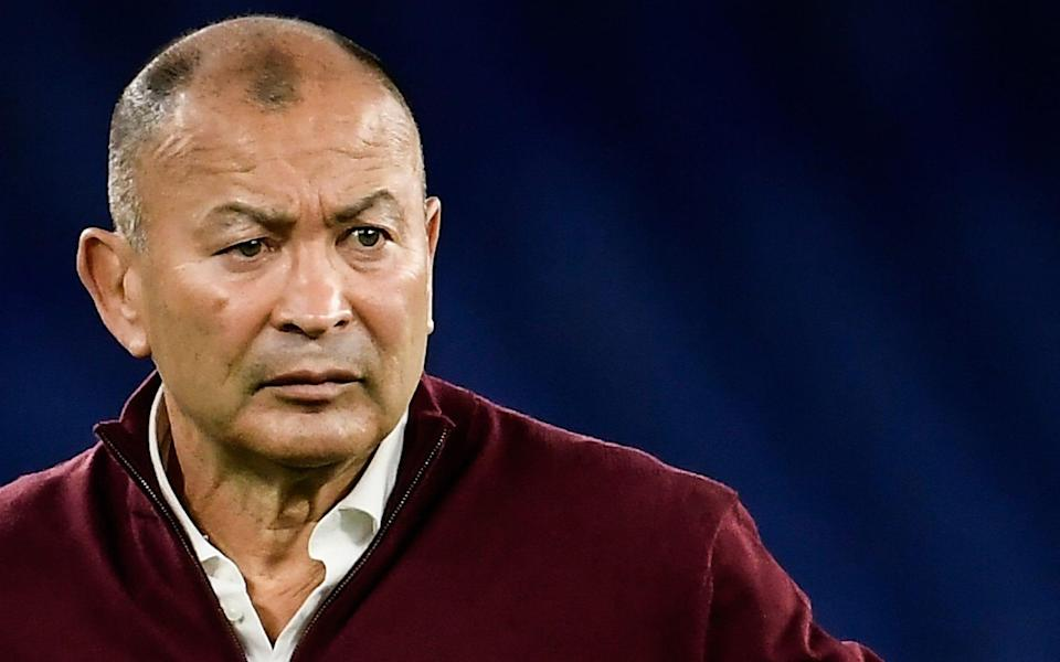 England's head-coach Eddie Jones looks on prior to the Six Nations rugby union tournament match between Italy and England - AFP