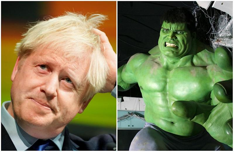 Britain will break out of the European Union's 'manacles' like The Incredible Hulk if a Brexit deal cannot be struck by the end of next month, Boris Johnson has said (Reuters/PA)