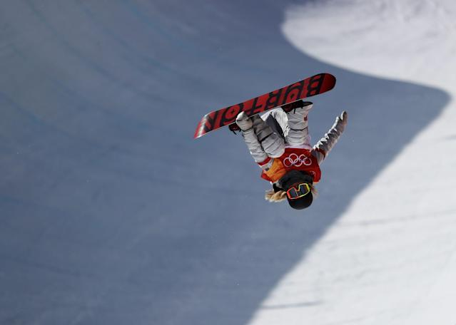 <p>Chloe Kim of the United States during the Snowboard Ladies' Halfpipe Final on day four of the PyeongChang 2018 Winter Olympic Games at Phoenix Snow Park on February 13, 2018 in Pyeongchang-gun, South Korea. (Photo by Ryan Pierse/Getty Images) </p>